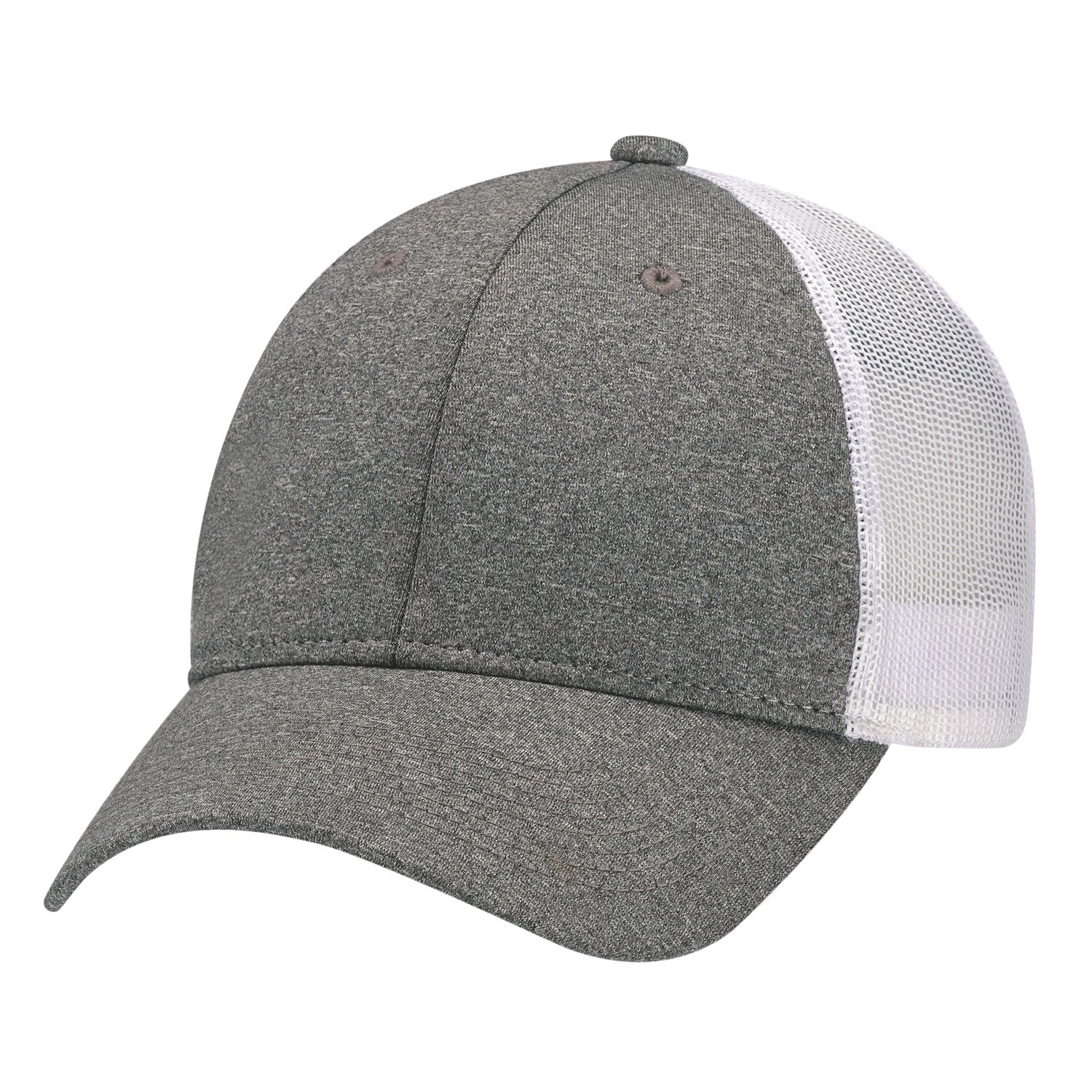 new product efbdc 968c9 AJM POLY HEATHER NYLON MESH CAP