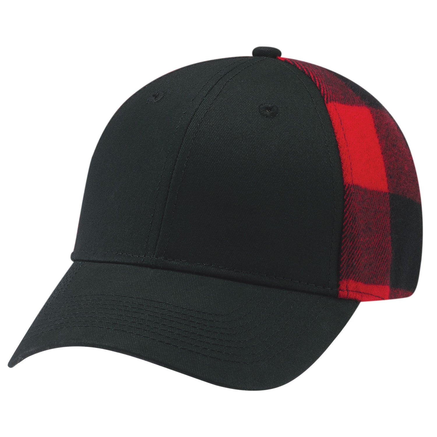 AJM COTTON DRILL/ACRYLIC LUMBERJACK PLAID CAP