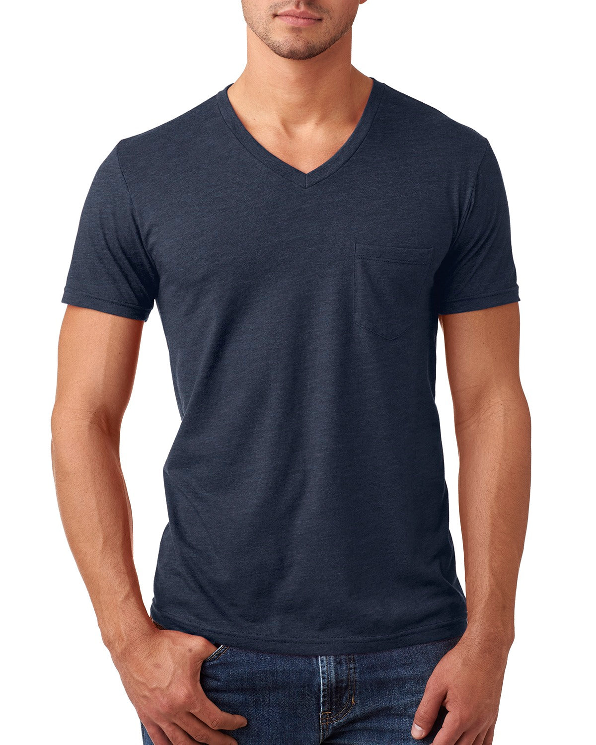NEXT LEVEL MEN'S CVC TEE WITH POCKET