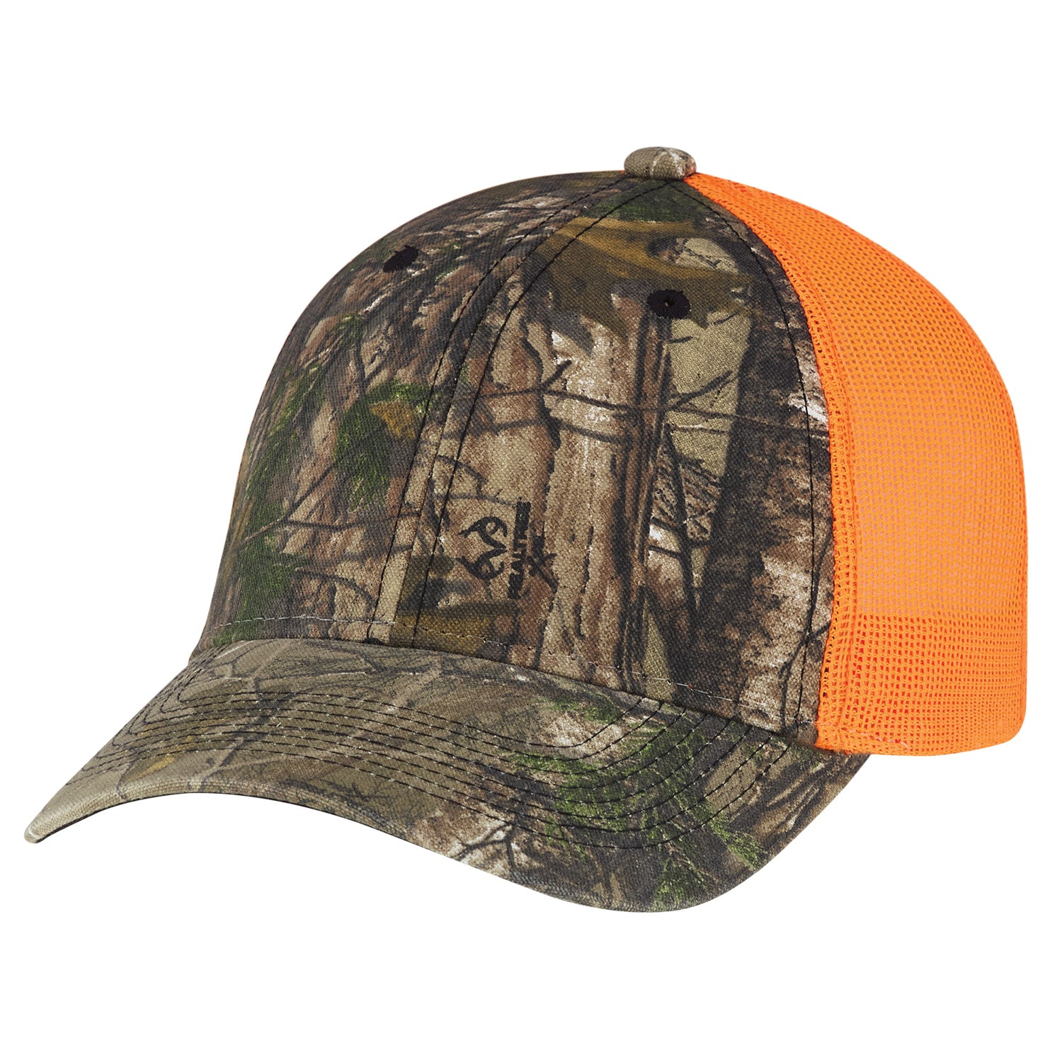 AJM CAMO ENZYME WASHED BRUSHED POLYCOTTON/SOFT NYLON MESH HAT