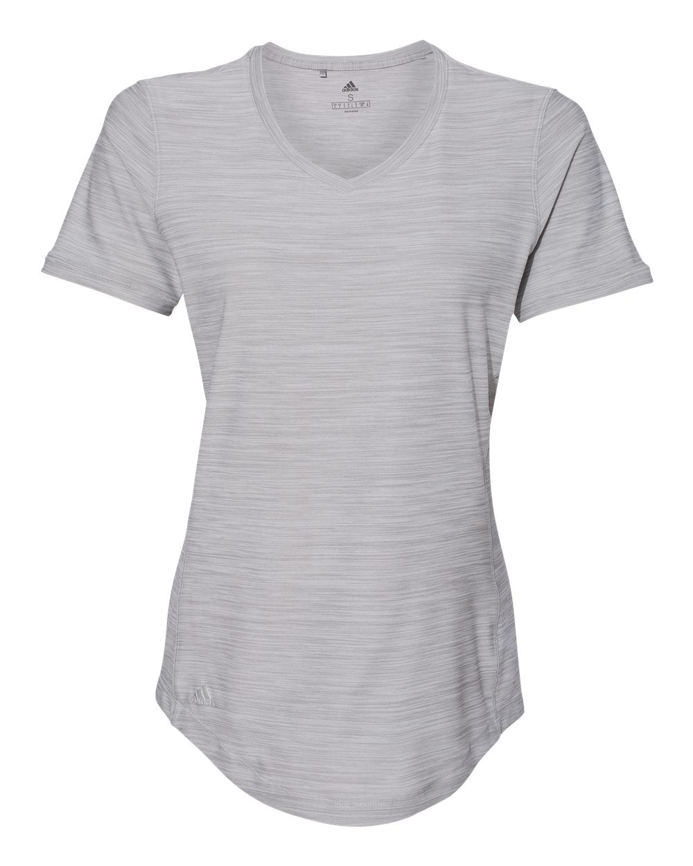 ADIDAS LADIES MELANGE TECH V-NECK TEE