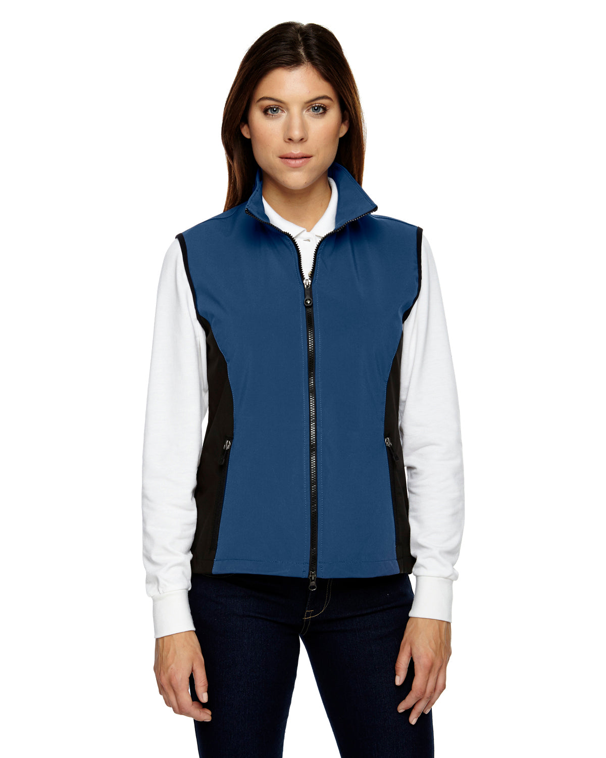 NORTH END LADIES THREE LAYER LIGHT BONDED PERFORMANCE SOFT SHELL VEST