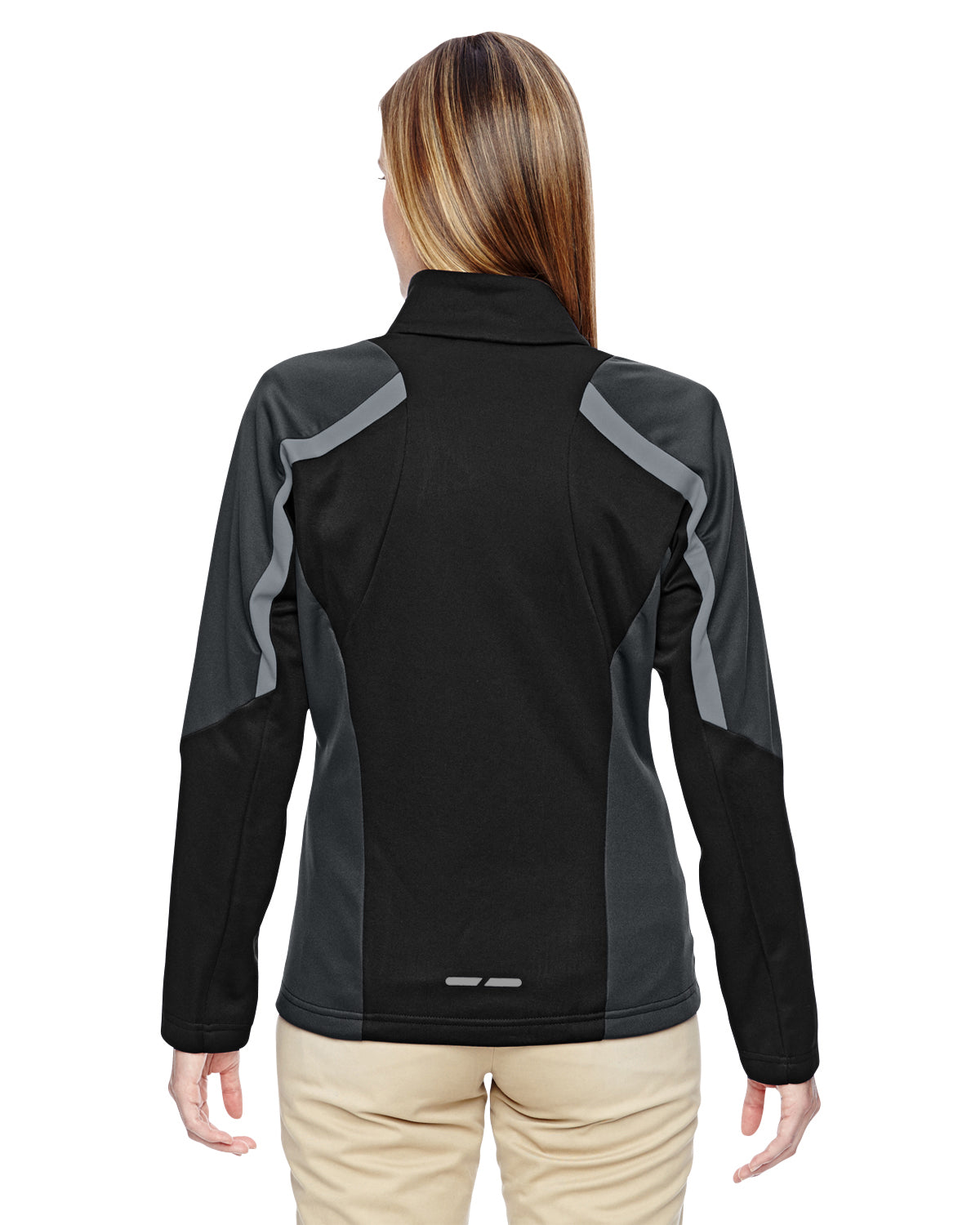 NORTH END LADIES STRIKE COLOR BLOCK FLEECE JACKET