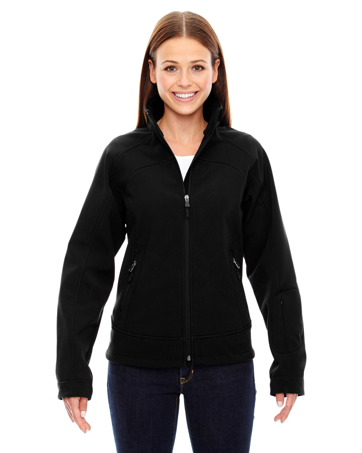 NORTH END LADIES THREE LAYER LIGHT BONDED SOFT SHELL JACKET