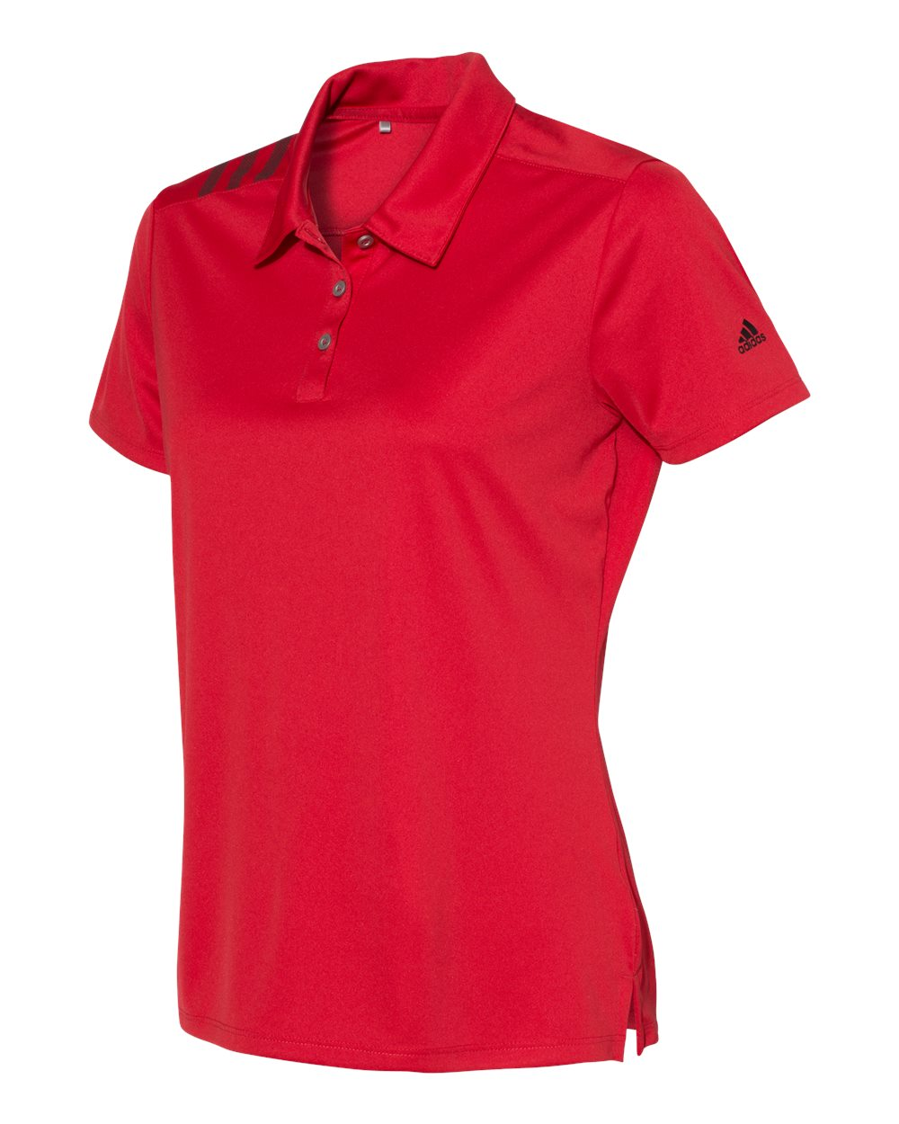 ADIDAS LADIES 3 STRIPES SHOULDER POLO