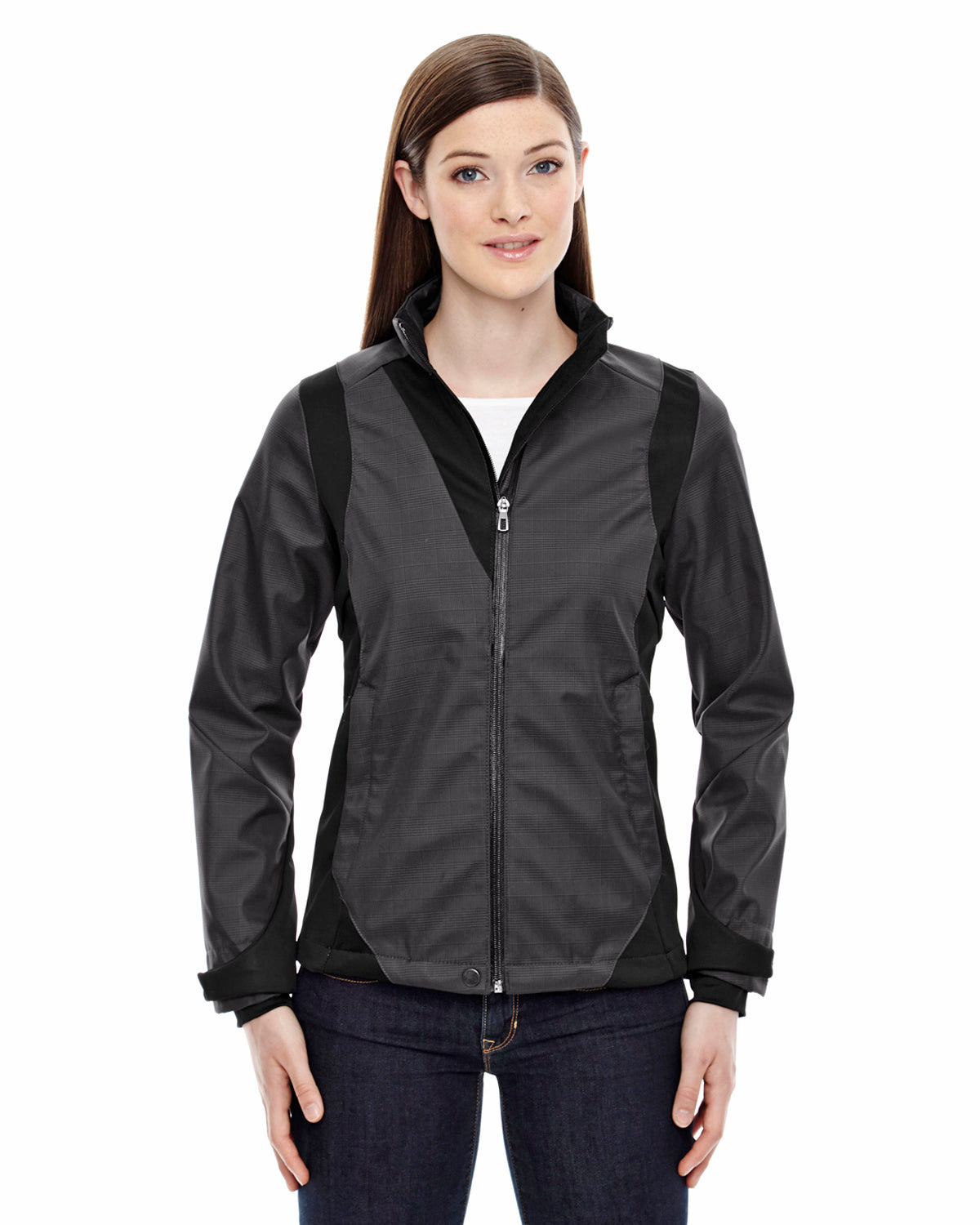 NORTH END LADIES THREE LAYER, TWO TONED SOFT SHELL JACKET WITH HEAT REFLECT