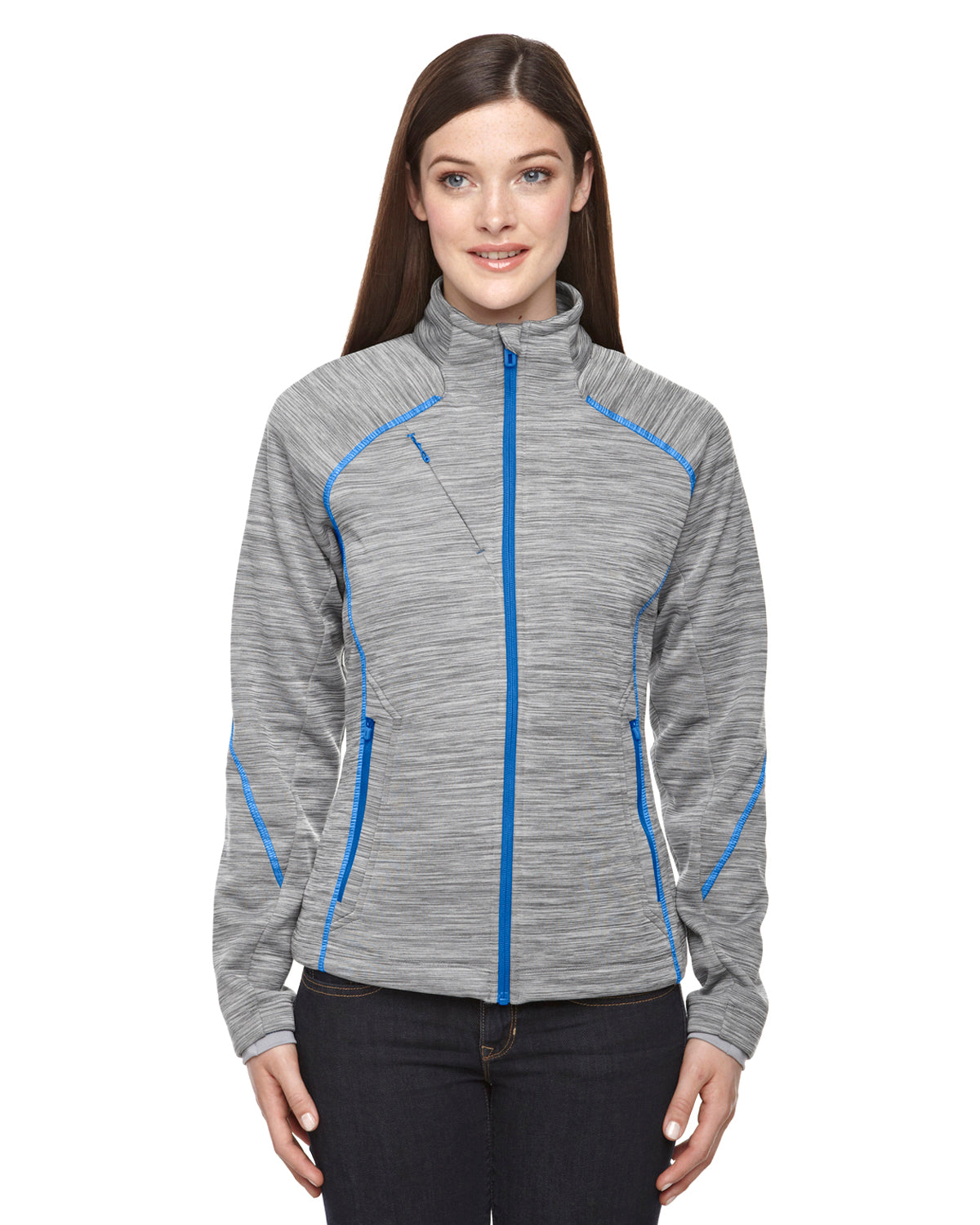 NORTH END LADIES FLUX MELANGE BONDED FLEECE JACKET