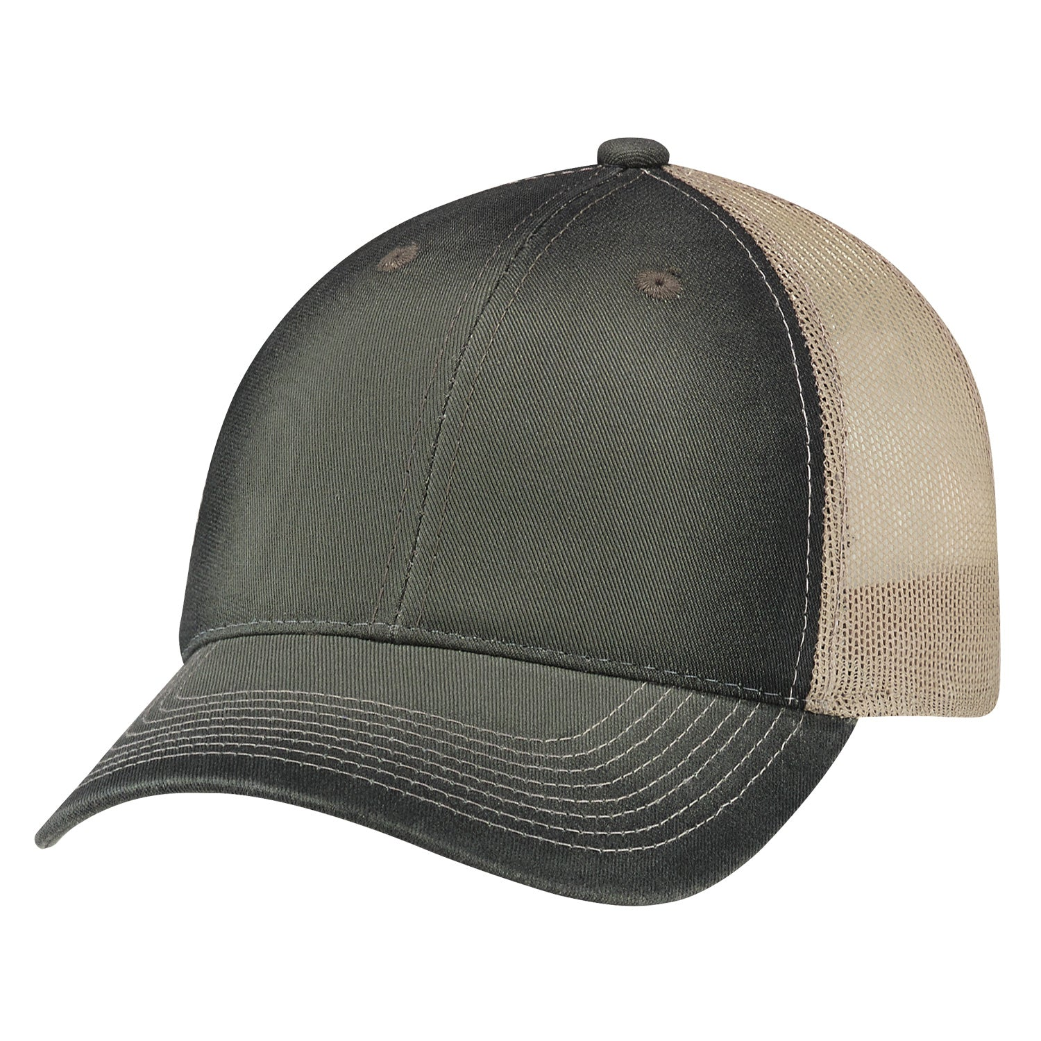 AJM DELUXE CHINO TWILL SOFT NYLON MESH BACK HAT