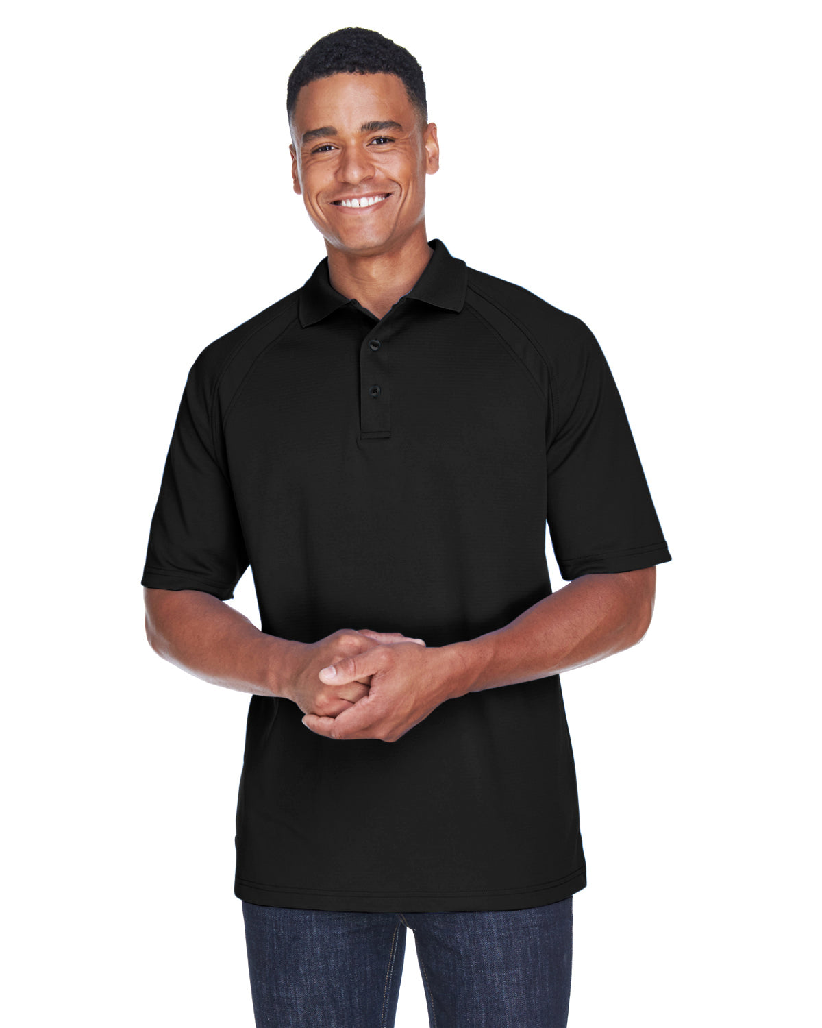 NORTH END EXTREME MEN'S EPERFORMANCE OTTOMAN TEXTURED POLO