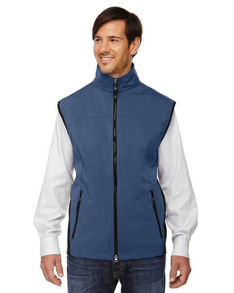 NORTH END MEN'S THREE LAYER LIGHT BONDED PERFORMANCE SOFT SHELL VEST