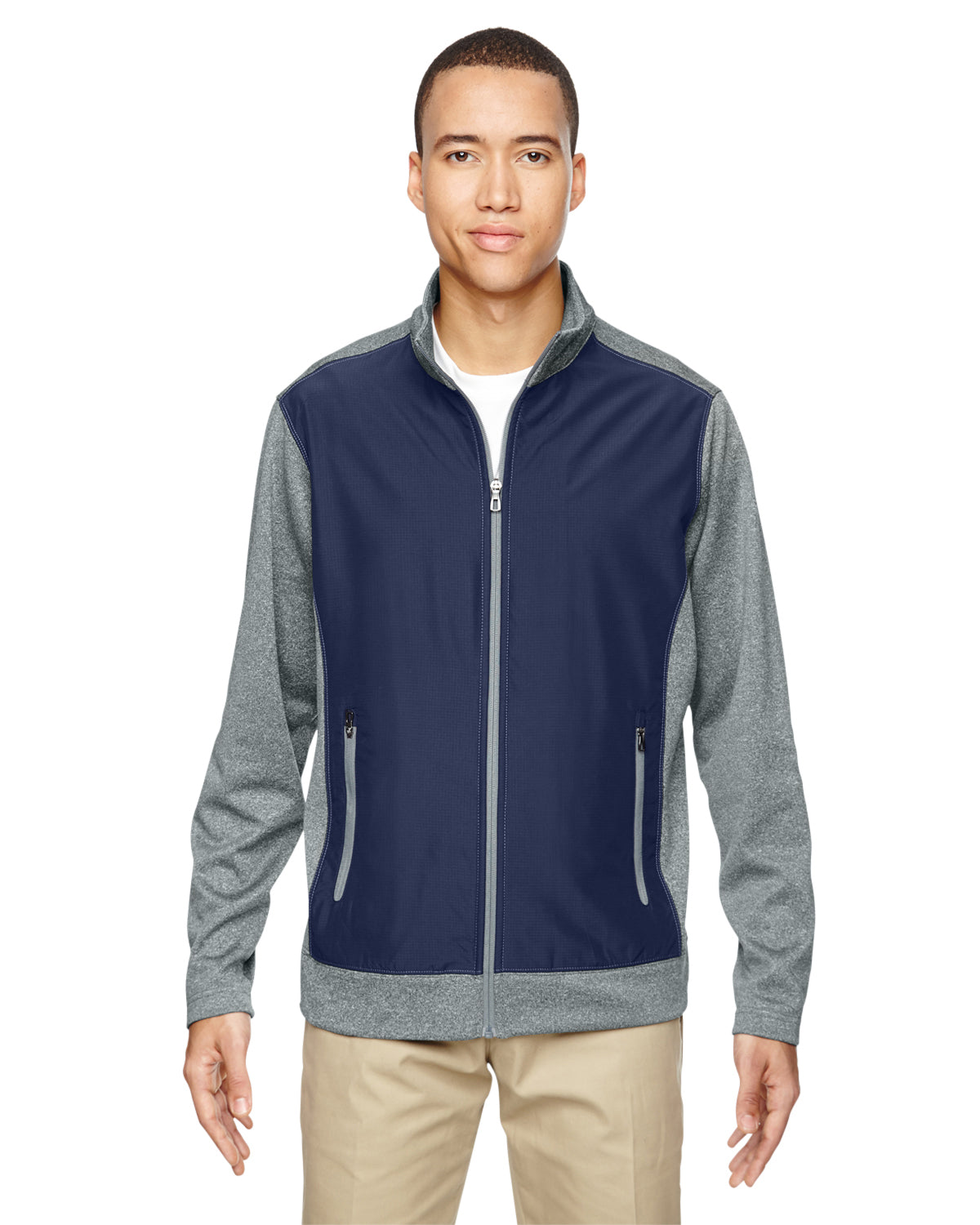 NORTH END MEN'S VICTORY HYBRID PERFORMANCE FLEECE JACKET
