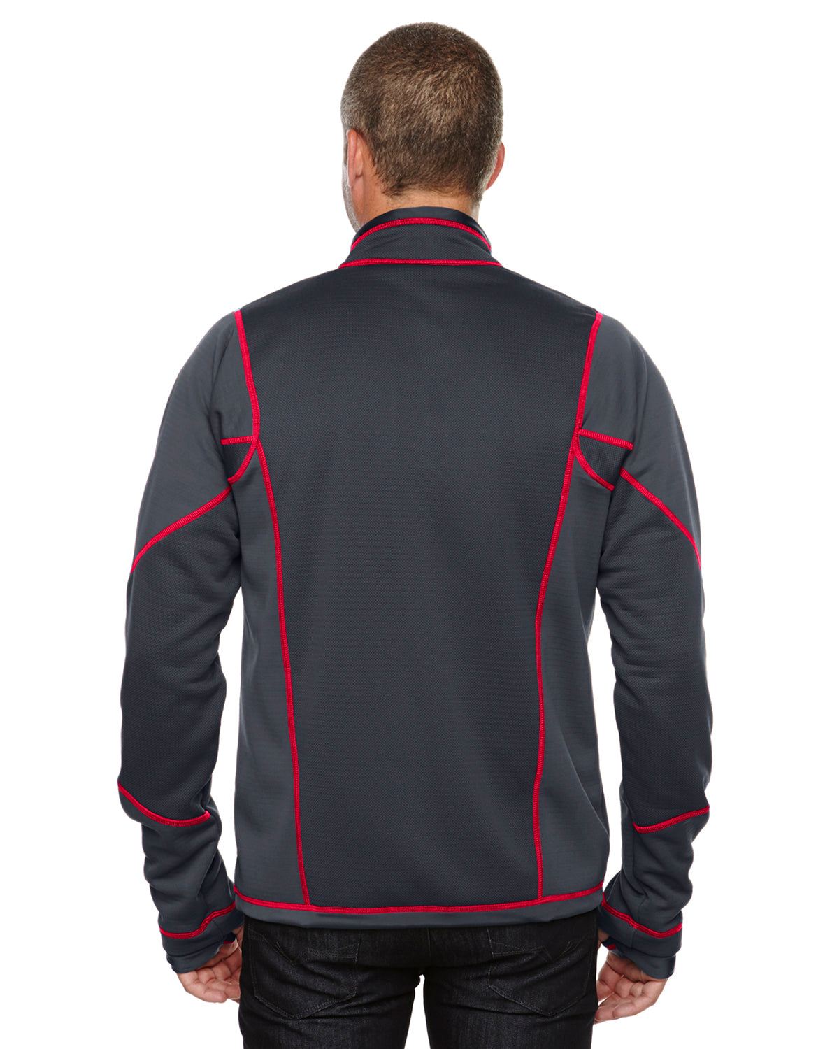 NORTH END MEN'S TEXTURED BONDED FLEECE JACKET