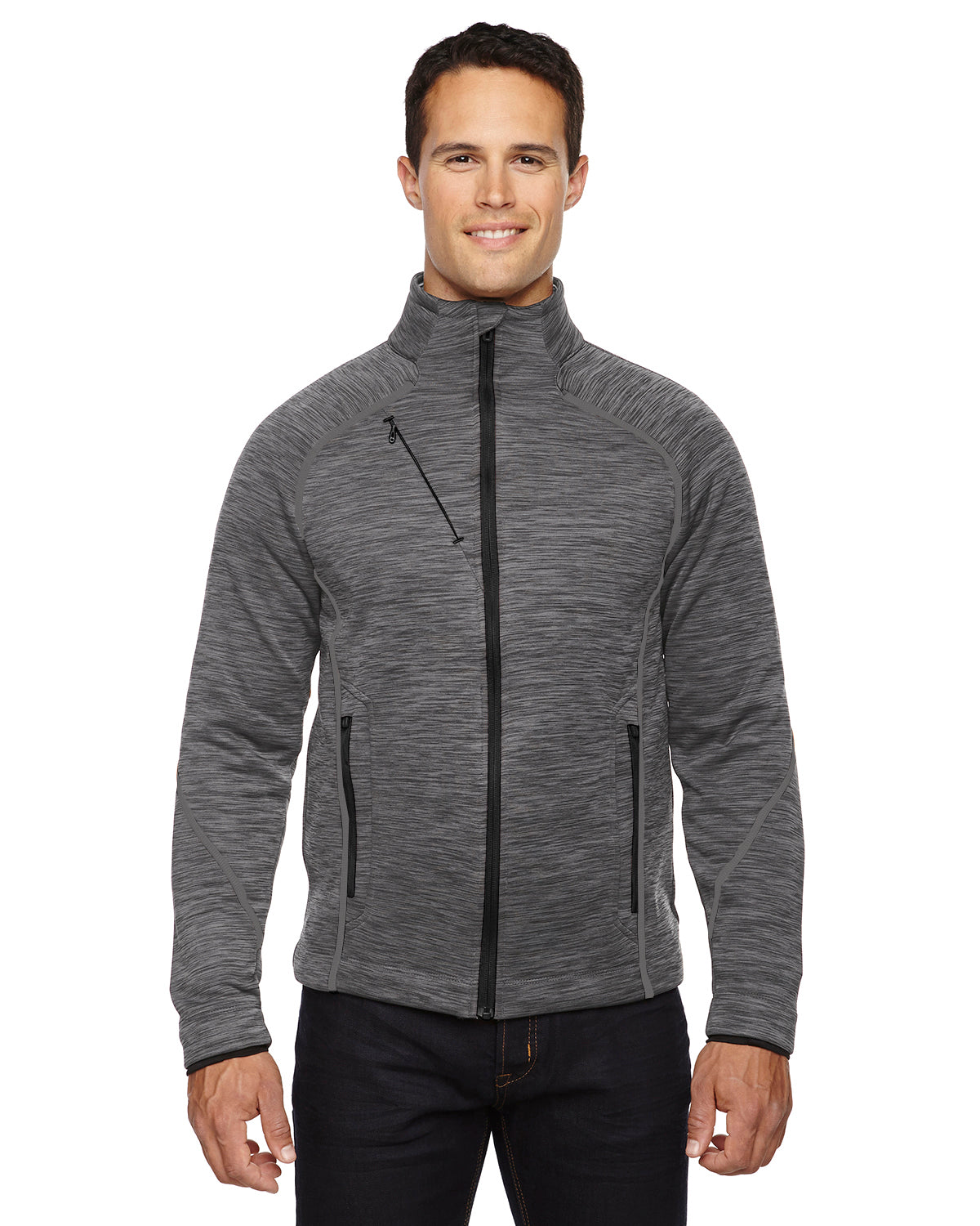 NORTH END MEN'S FLUX MELANGE BONDED FLEECE JACKET