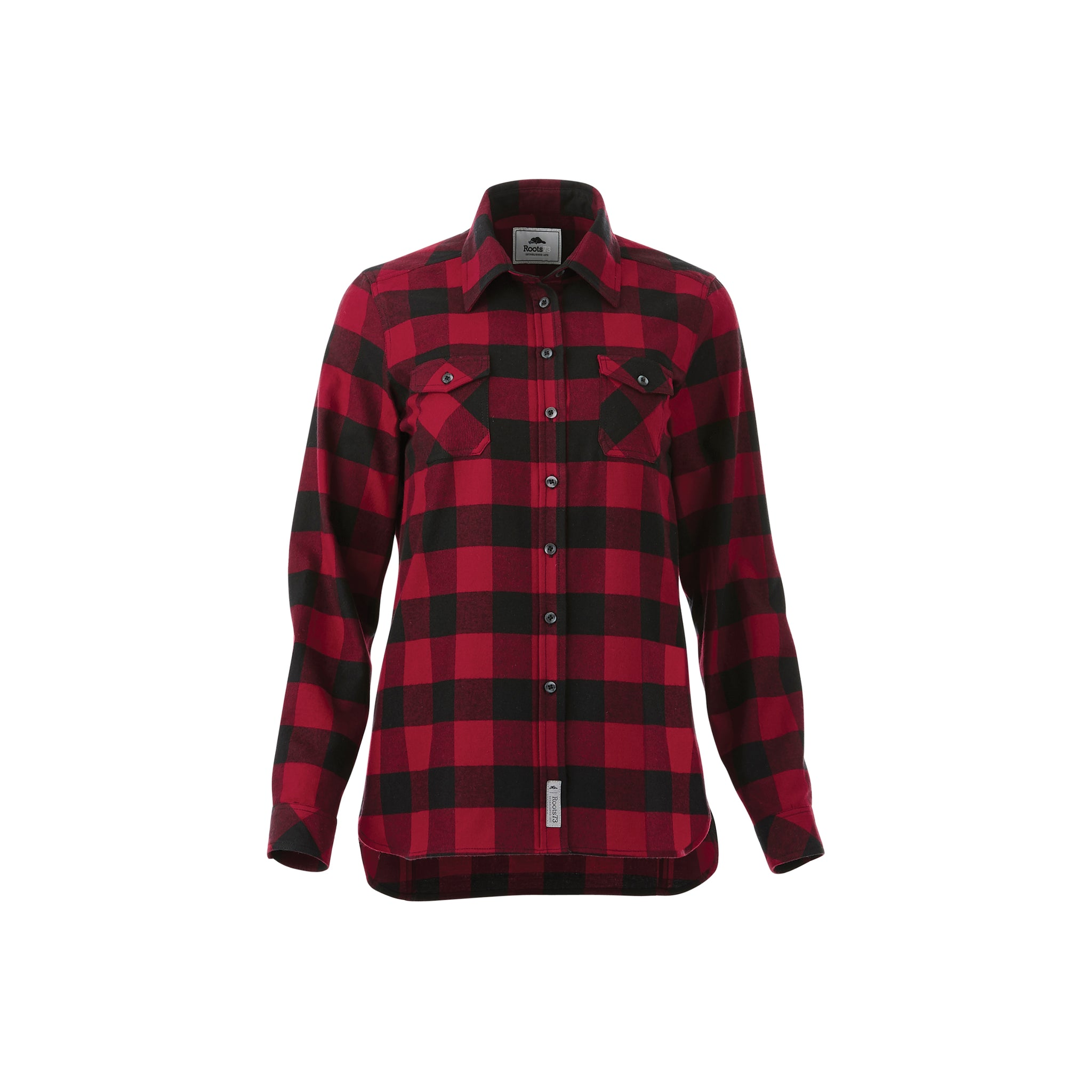 ROOTS73 LADIES SPRUCELAKE PLAID LONG SLEEVE SHIRT