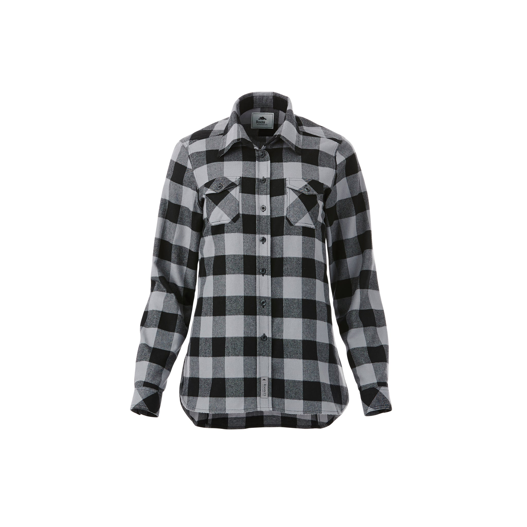 ROOTS73 WOMEN'S SPRUCELAKE PLAID LONG SLEEVE SHIRT