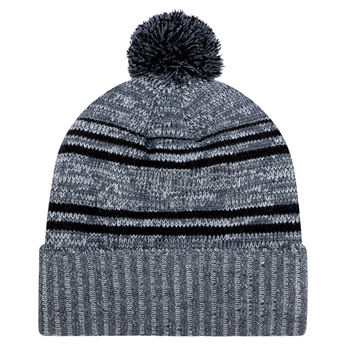AJM ACRYLIC/ POLYESTER MICRO FLEECE CUFF TOQUE WITH POM POM