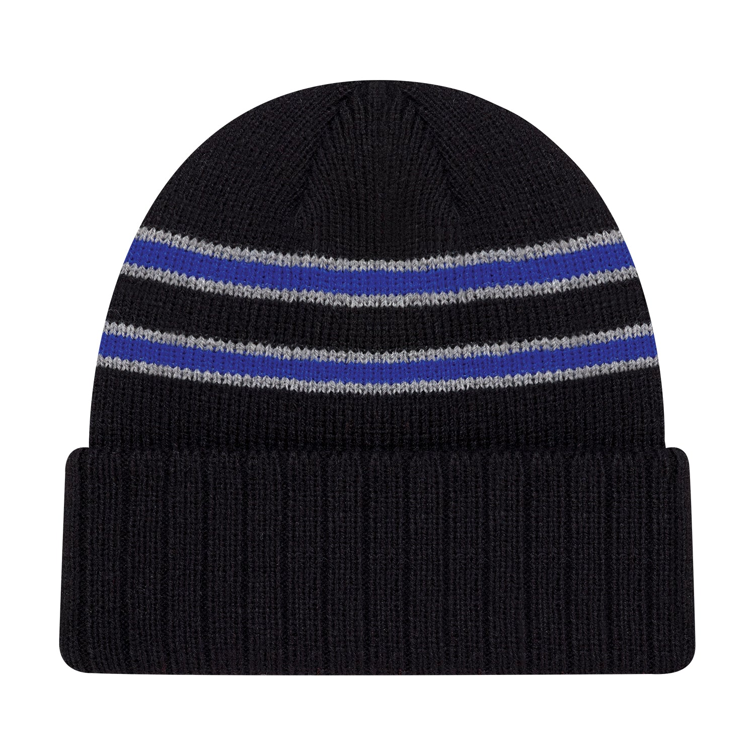 STRIPE RIB KNIT CUFF TOQUE