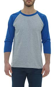M & O KNITS ADULT BASEBALL T-SHIRT