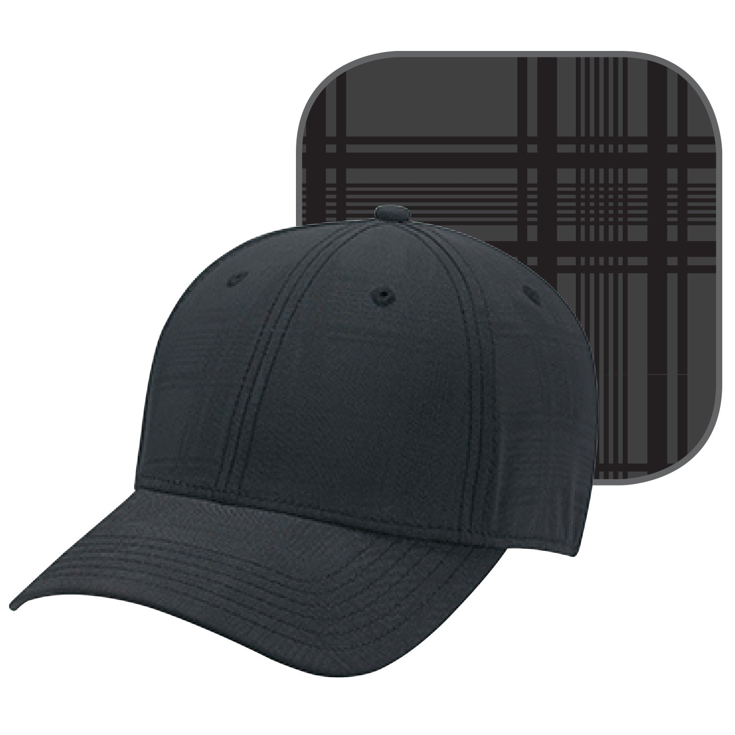AJM POLYESTER PLAID AND SPANDEX FITTED HAT