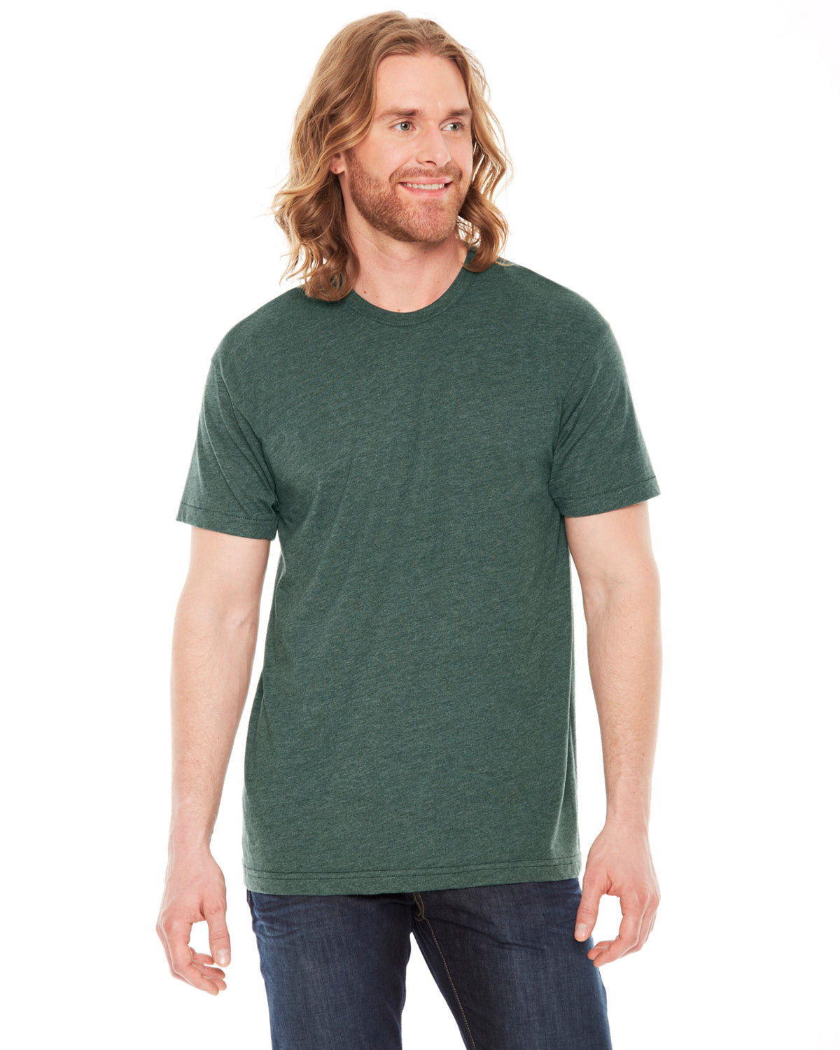 7fe276eda4 AMERICAN APPAREL UNISEX POLY COTTON SHORT SLEEVE CREW NECK T-SHIRT