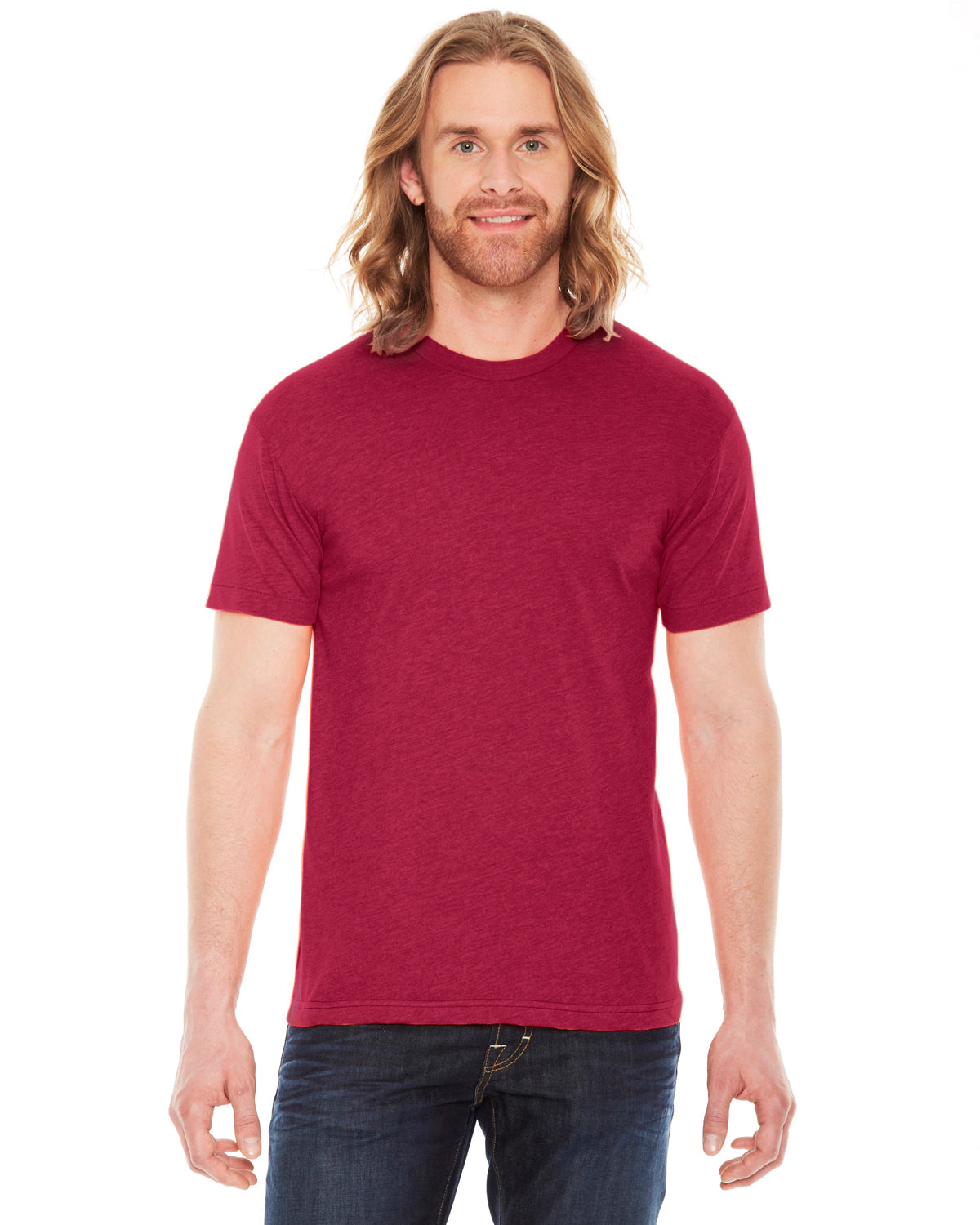 AMERICAN APPAREL UNISEX POLY COTTON SHORT SLEEVE CREW NECK T-SHIRT