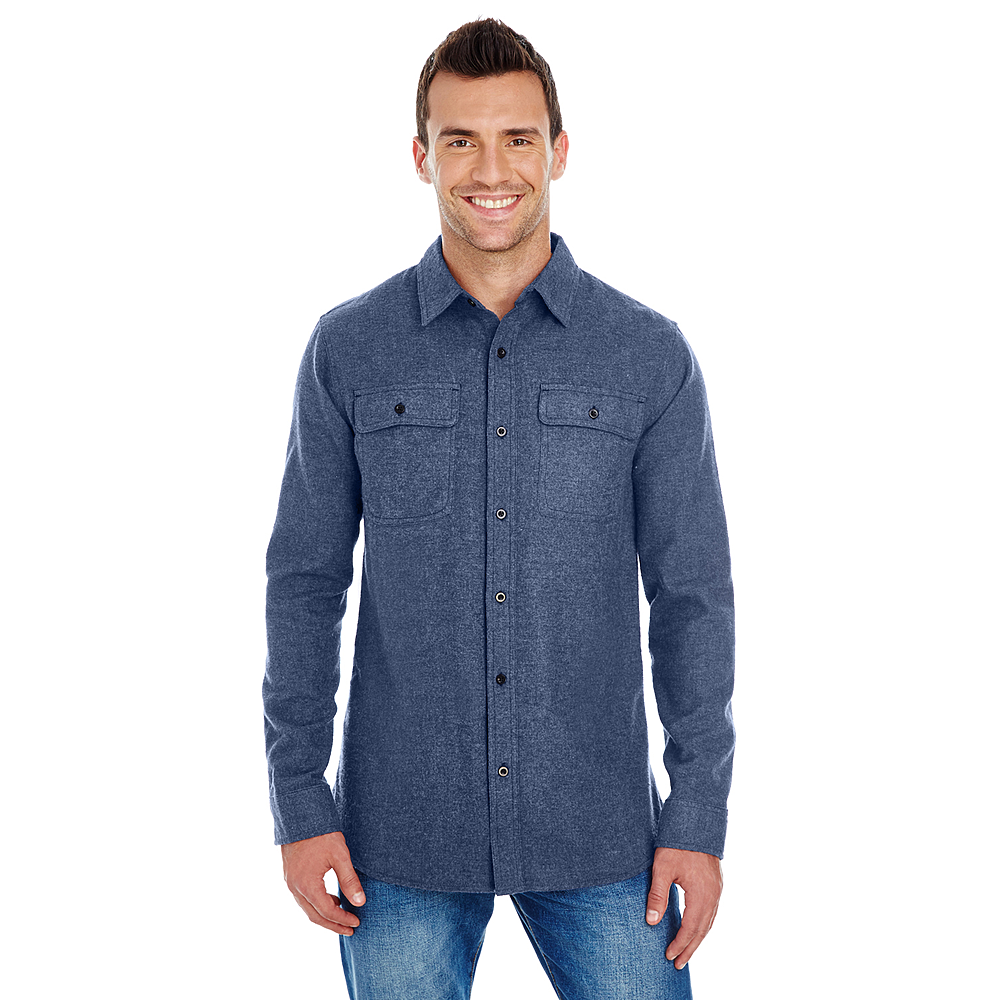 BURNSIDE MEN'S SOLID FLANNEL