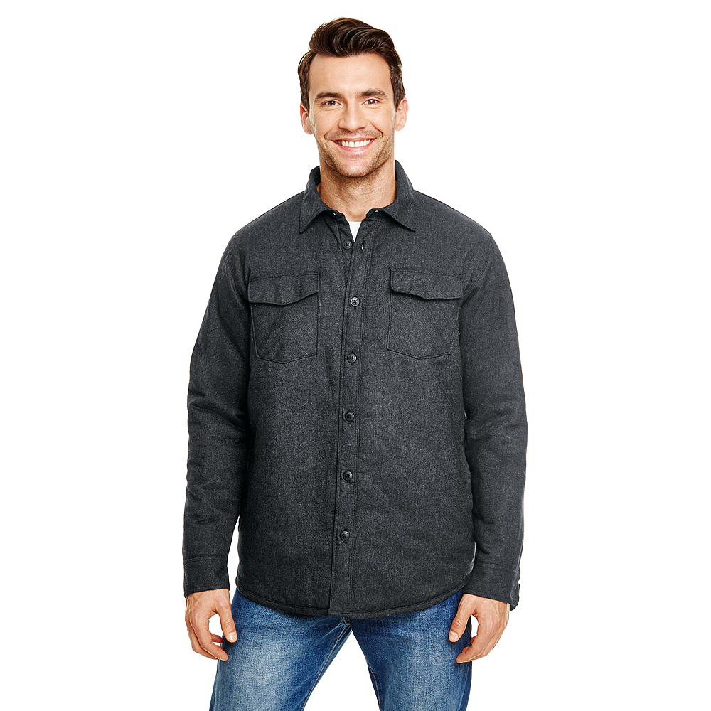 BURNSIDE MEN'S QUILTED FLANNEL/PLAID JACKET