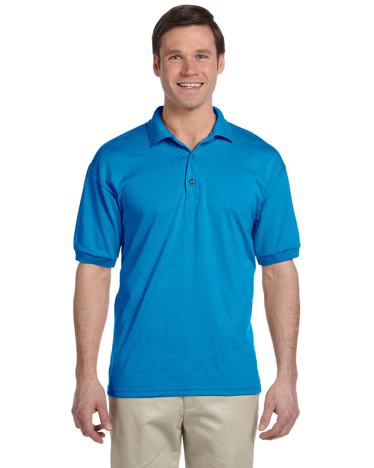 GILDAN ADULT JERSEY SHORT SLEEVE POLO