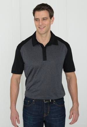 ATC™ MEN'S PRO TEAM HEATHER PROFORMANCE COLOUR BLOCK POLO