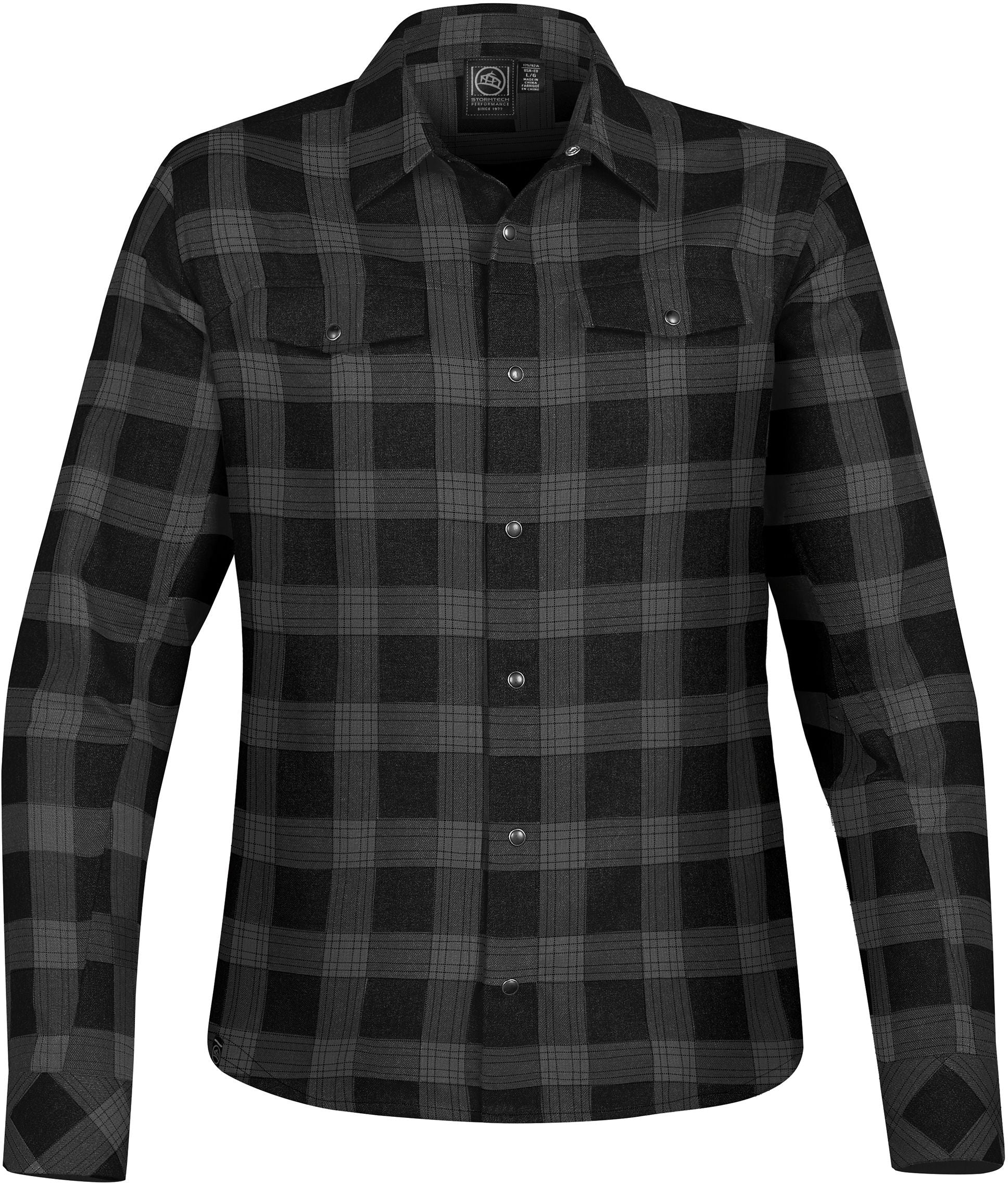 STORMTECH LADIES LOGAN SNAP FRONT PLAID SHIRT
