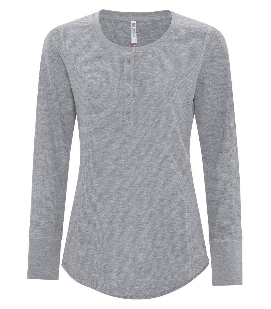 ATC™ ESACTIVE® LADIES VINTAGE THERMAL LONG SLEEVE HENLEY