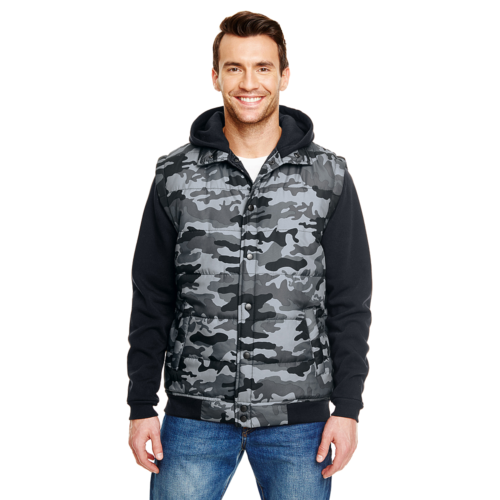 BURNSIDE MEN'S SLEEVED PUFFER VEST