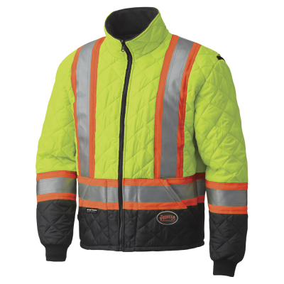 PIONEER MEN'S HI-VIZ QUILTED FREEZER/WORK SAFETY JACKETS