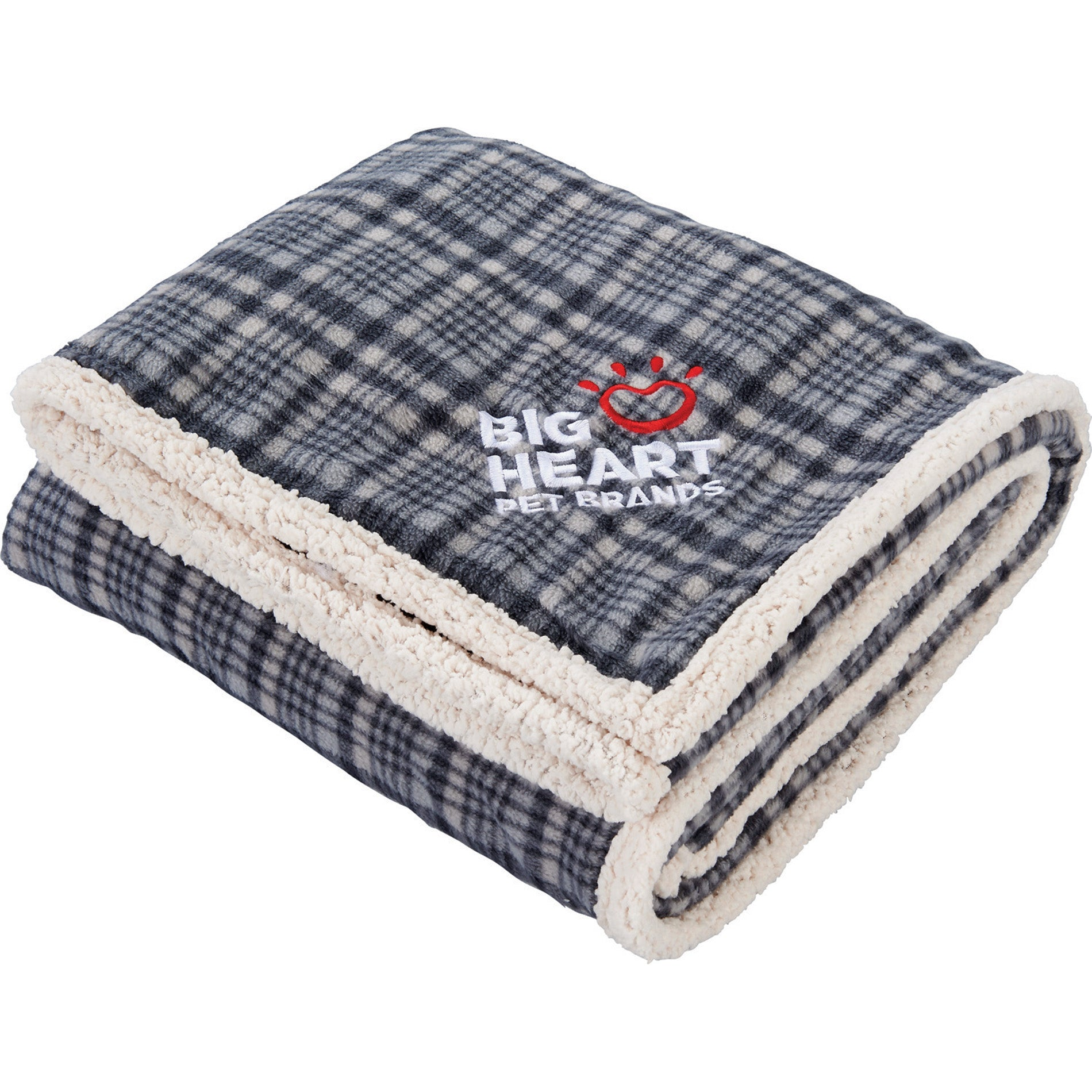 LEEDS FIELD & CO® PLAID SHERPA BLANKET