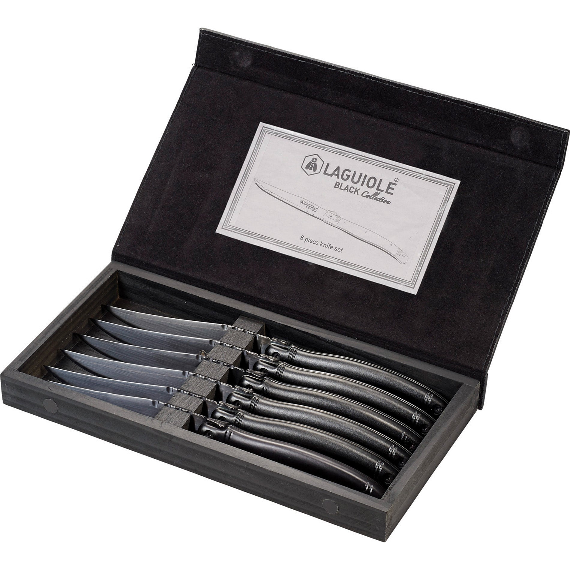 LEEDS LAGUIOLE BLACK KNIFE SET