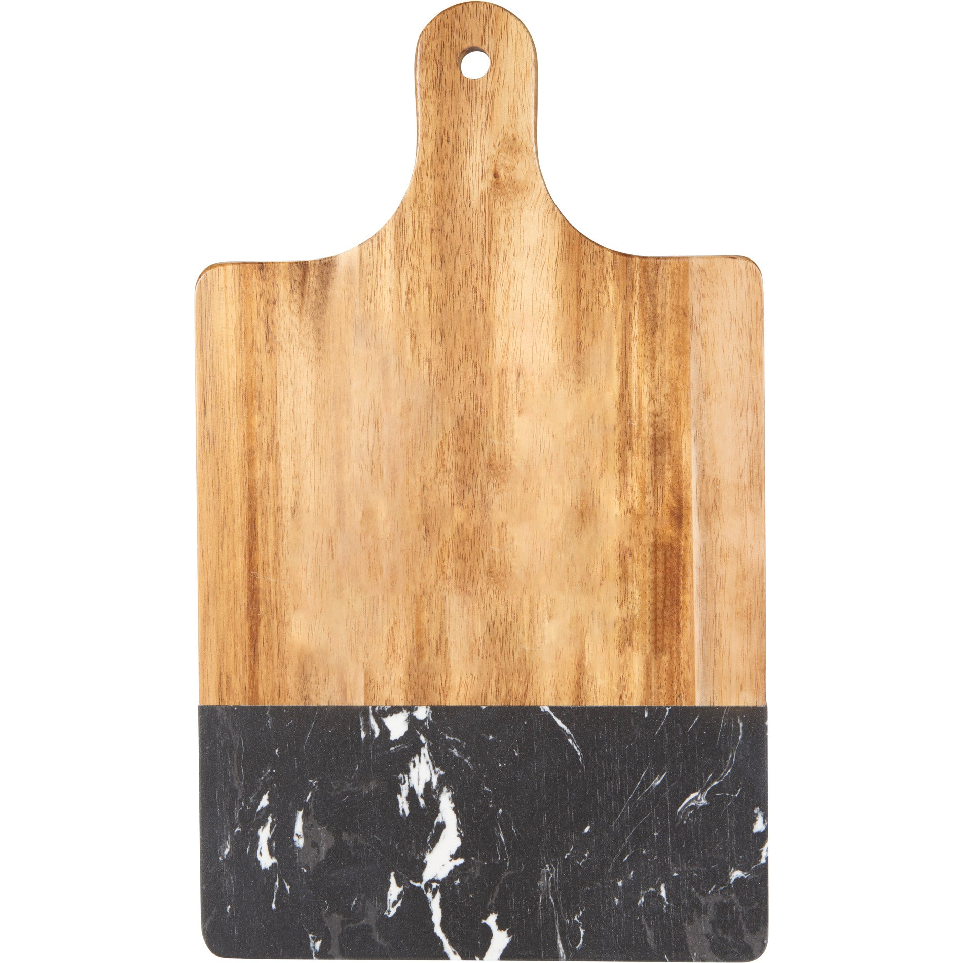 LEEDS BLACK MARBLE AND WOOD CUTTING BOARD
