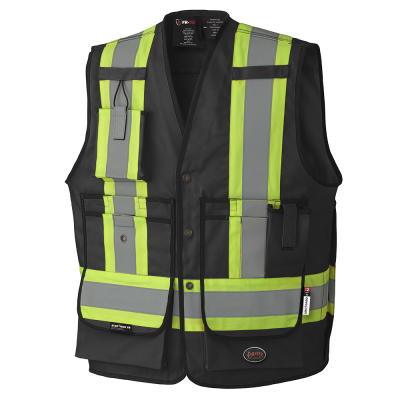PIONEER FR-TECH® FR/ARC RATED SURVEYOR'S SAFETY VESTS - 88/12 COTTON/NYLON