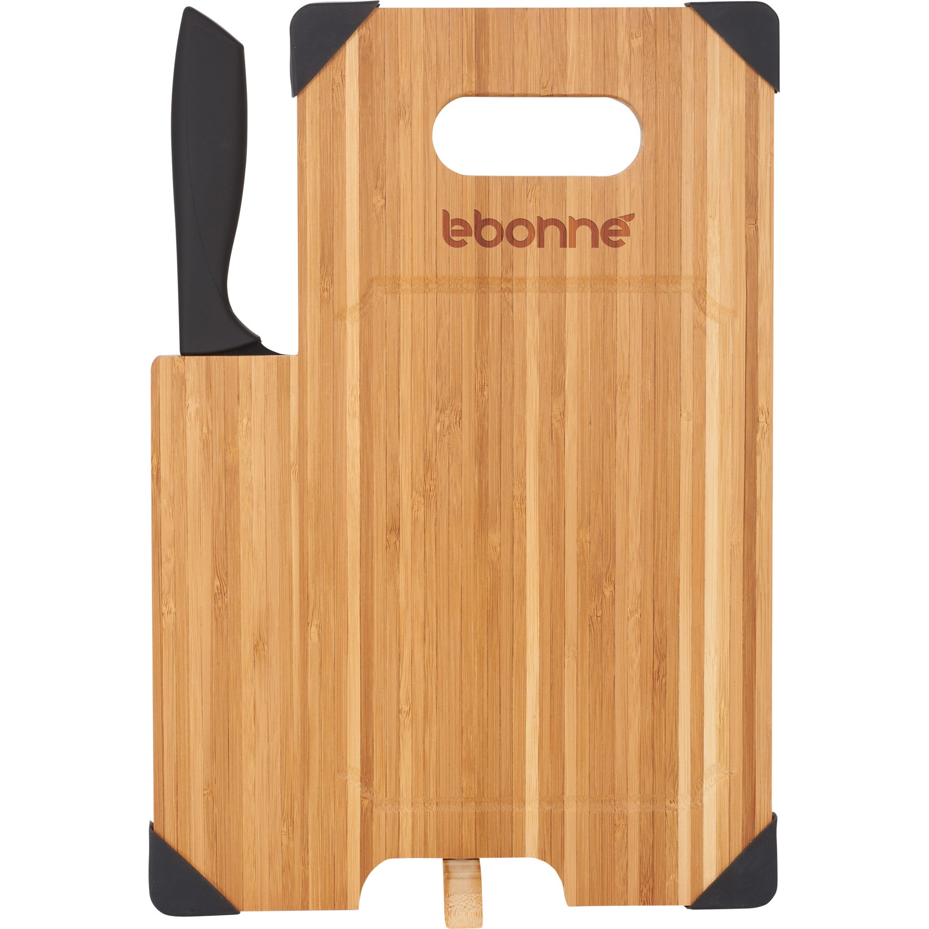 LEEDS BAMBOO CUTTING BOARD WITH KNIFE