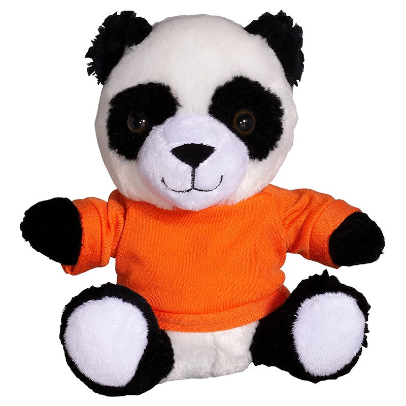 "PRIMELINE 7"" PLUSH PANDA WITH SHIRT"
