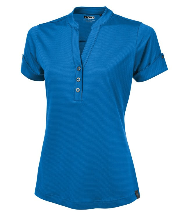 OGIO® LADIES GAZE LINEAR HENLEY POLO