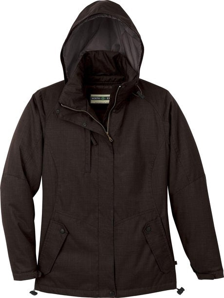 NORTH END LADIES INSULATED TEXTURED JACKET