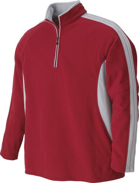 NORTH END MEN'S POLYESTER FLEECE HALF ZIP