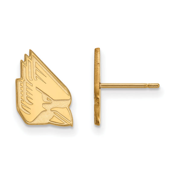 Ball State Cardinals Gold Post Earrings