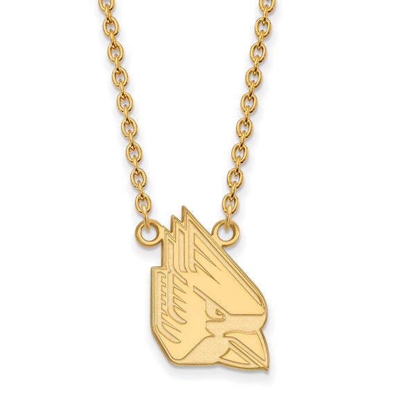 Ball State University Cardinals Gold Necklace