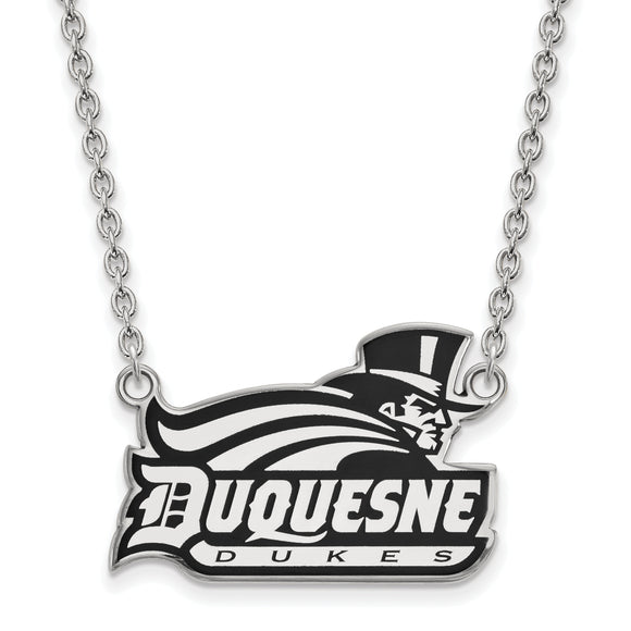 Duquesne Dukes Silver Necklace with Enamel