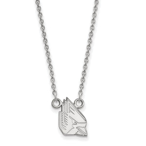 Ball State University Cardinals Silver Necklace
