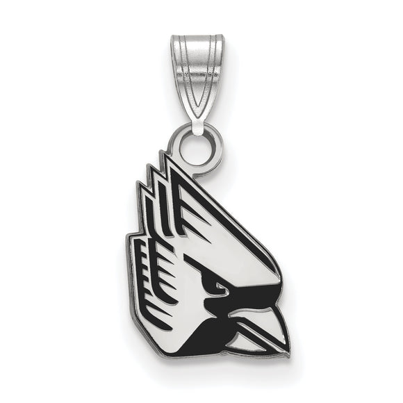 Ball State University Cardinals Silver Pendant with Enamel