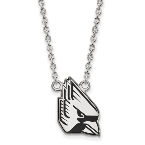 Ball State University Cardinals Silver Necklace with Enamel