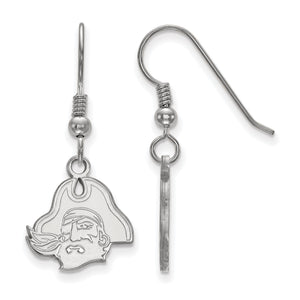 East Carolina Pirates Silver Dangle Earrings