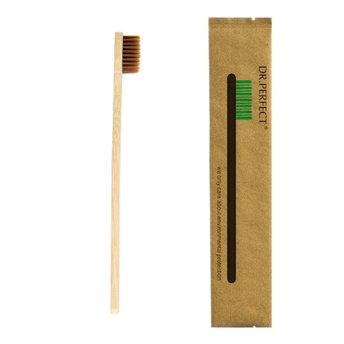 1 Piece Brown 100% Bamboo Made Toothbrush - my Eco friendly boutique